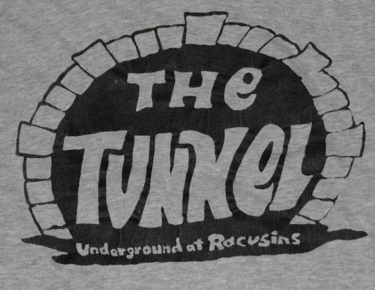 Vintage 1980s The Tunnel Night Club Logo T-Shirt 80s