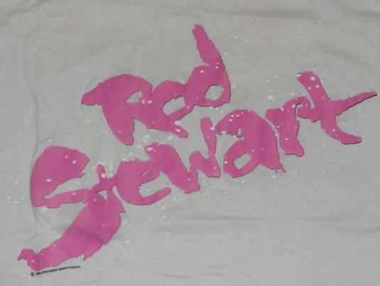 Vintage 1986 ROD STEWART Out of Order Concert T-Shirt 80s