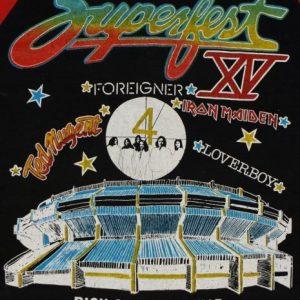 Vintage 1982 Superfest Iron Maiden Loverboy Foreigner Shirt