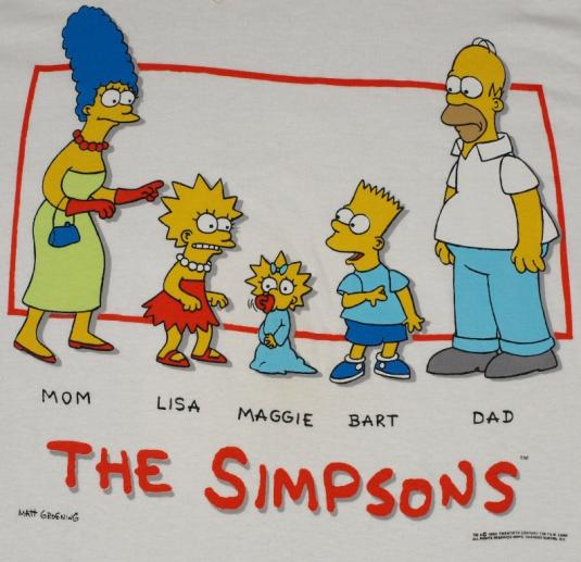 Vintage 1990 The Simpsons Bart Deadstock T-Shirt 90s