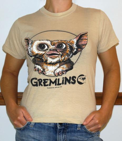 Vintage 1984 GREMLINS GIZMO Movie T-Shirt 1980s ORIGINAL