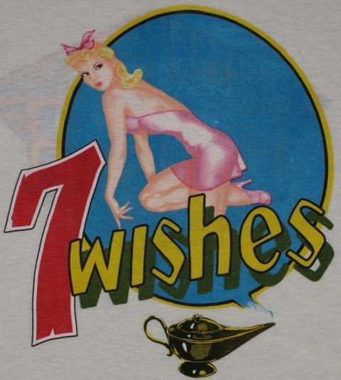 Vintage 1985 NIGHT RANGER 7 Wishes Pinup Tour T-Shirt