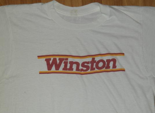 Vintage 1980s Winston Cigarette Logo T-Shirt