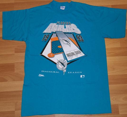 VTG 1993 Florida Marlins Inaugural Season Baseball T-shirt