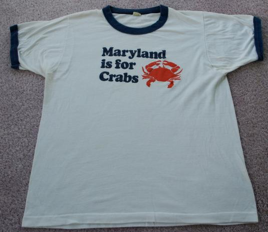 Vintage 1980s MARYLAND Is For CRABS Screen Stars T Shirt