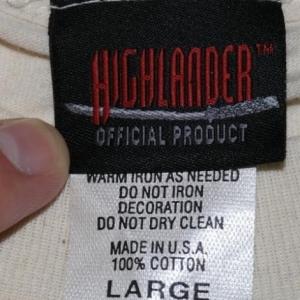Vintage 1990s HIGHLANDER TV Show T-Shirt Sci Fi