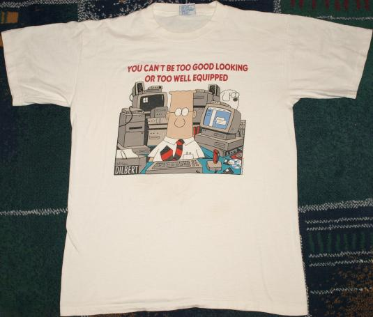 Vintage 1990's DILBERT Office Comic Strip Cartoon T-Shirt