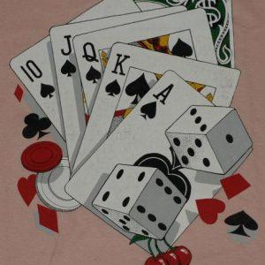 Vintage Pink Royal Flush Poker Vegas Dice T-Shirt