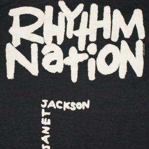 VTG 1990 Janet Jackson Rhythm Nation No Predudice T-shirt