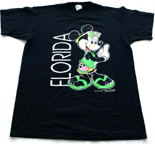 Vintage Mickey Mouse Florida Beach Surf Velva Sheen T Shirt