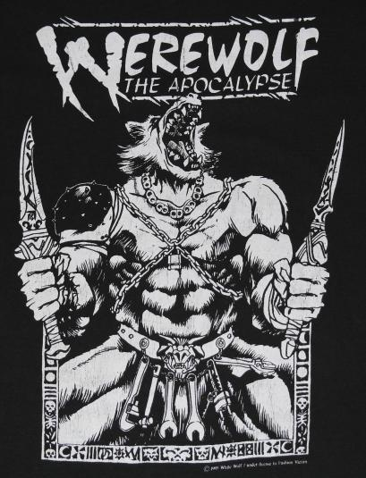 Vintage 1990s Werewolf The Apocalypse RPG Game Comic T-shirt