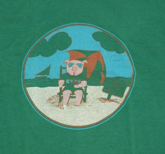 VIntage MILLER TIME Welcome To Mass PIG Shirt