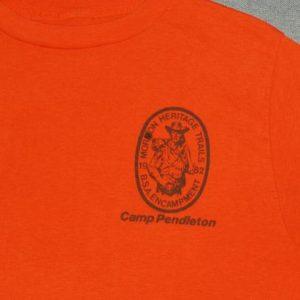 VTG 1980s 1982 Camp Pendleton Morman Heritage Trails T-Shirt