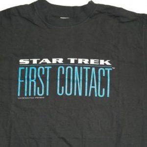 VTG STAR TREK FIRST CONTACT Movie Sci Fi T-Shirt DEADSTOCK
