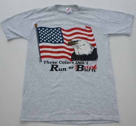 Vintage USA American Flag Bald Eagle T Shirt
