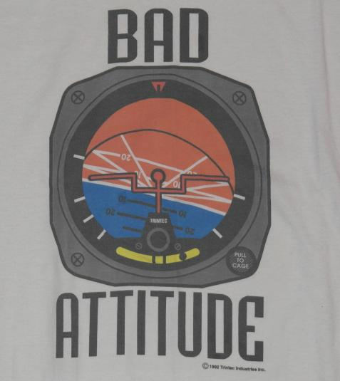 Vintage 1990s Trintec Bad Attitude Aviation Pilot T-Shirt