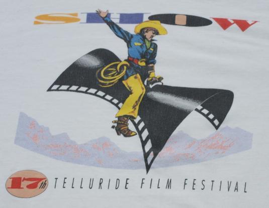 Vintage 1991 Telluride Colorado Cowboy Film Festival Shirt