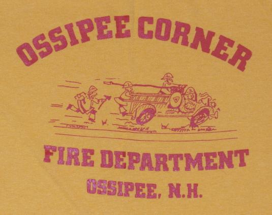 Vintage 1980s Ossipee New Hampshire Fire Department T-Shirt
