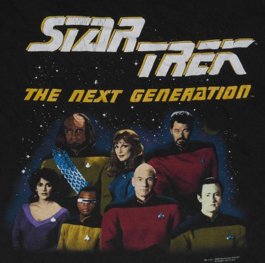 Vintage 1990s STAR TREK Next Generation T-Shirt TNG 90s