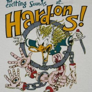 VINTAGE 1990's 1991 THE HARD ONS Concert Tour T-Shirt
