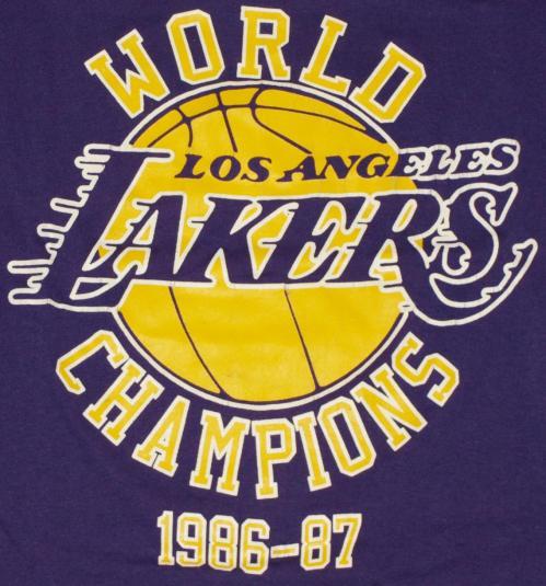 Vintage 1986 LOS ANGELES LA LAKERS NBA Championship Shirt