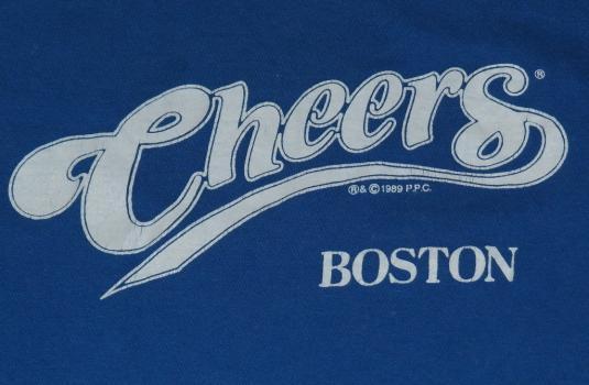 Original Vintage 1980's CHEERS Boston TV Blue T-Shirt