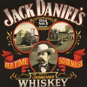 Vintage 1980's Jack Daniels T-Shirt Tennessee Whiskey 1989