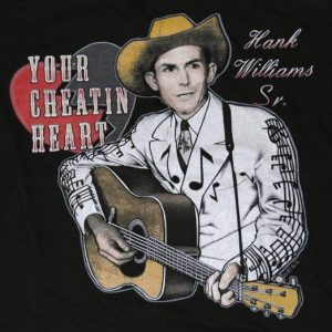 Vintage 1990s HANK WILLIAMS Sr. Country Music T-Shirt 90s
