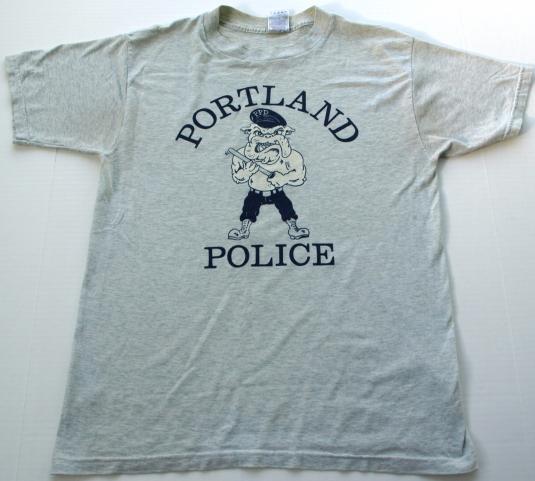 Vintage Portland Maine Police Bull Dog T Shirt