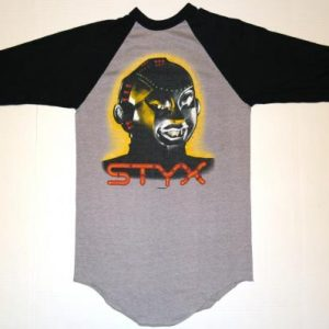 VTG 1983 STYX Mr Roboto Kilroy Was Hear Tour Concert T-Shirt