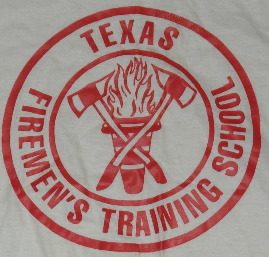 Vintage 1970's TEXAS FIREMEN'S Training School Ringer T-Shir