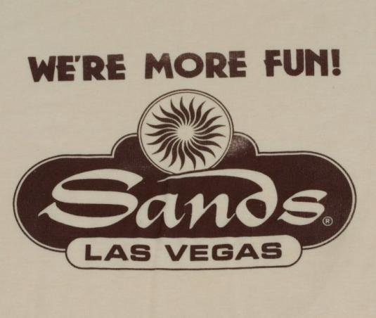 Vintage 1980s THE SANDS Casino Las Vegas Nevada Shirt