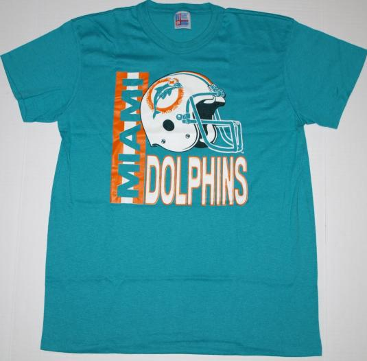 Vintage 1980s MIAMI DOLPHINS NFL Football T-Shirt NEVER WORN