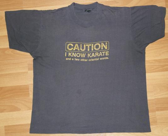 Vintage 1980s Karate Oriental Sof & Thin T-Shirt