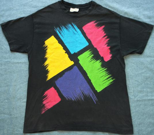 Vintage Colorful Abstract Art Paint Swatches Strokes T-Shirt