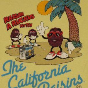 Vintage 1980s California Raisins Yellow T-shirt 1987
