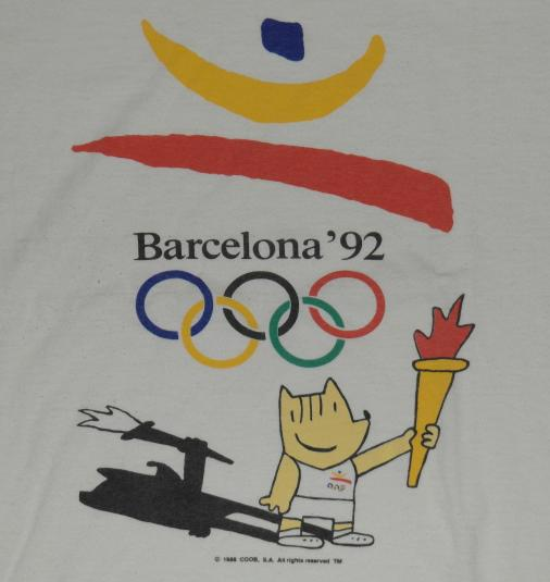 VTG 1992 Barcelona United States Olympic Training T-Shirt