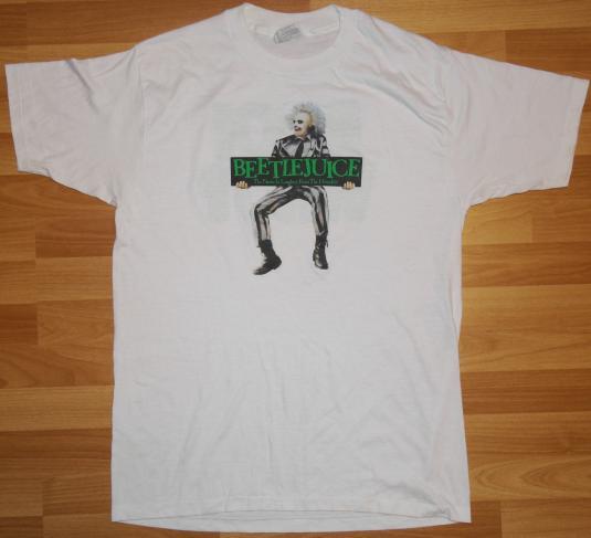 VTG 1980s BEETLEJUICE Original Horror Comedy Movie T-Shirt