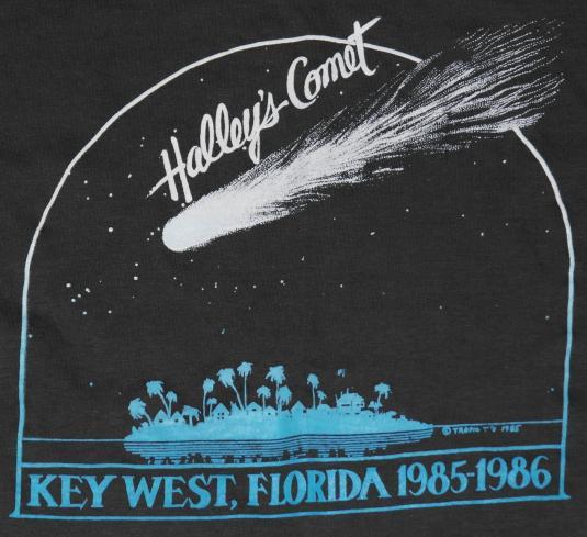 Vintage 1980's KEY WEST Florida HALLEYS COMET T-Shirt
