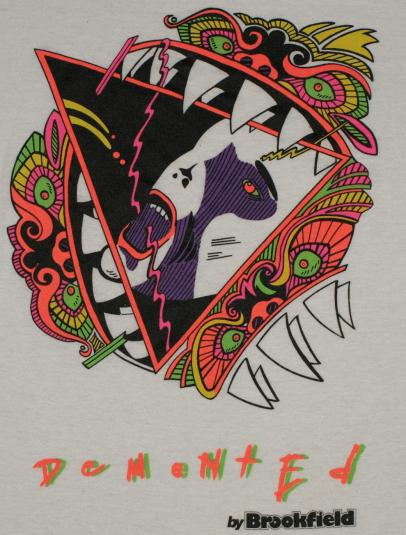 Vintage Demented Japanese Dragon Abstract T-Shirt