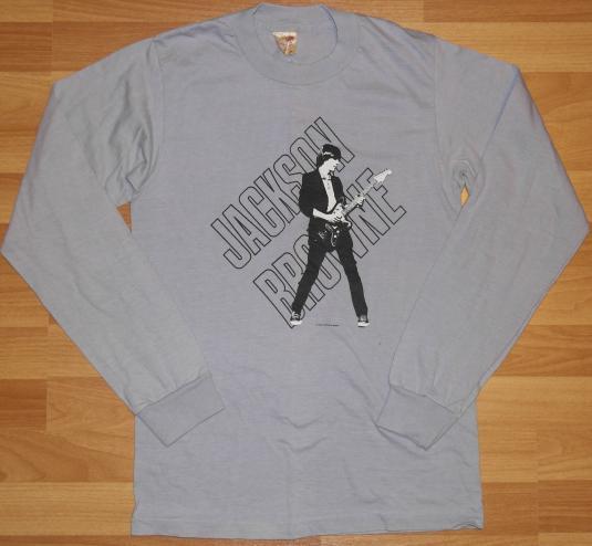 Vintage 1983 JACKSON BROWNE Long Sleeve Shirt 1980s