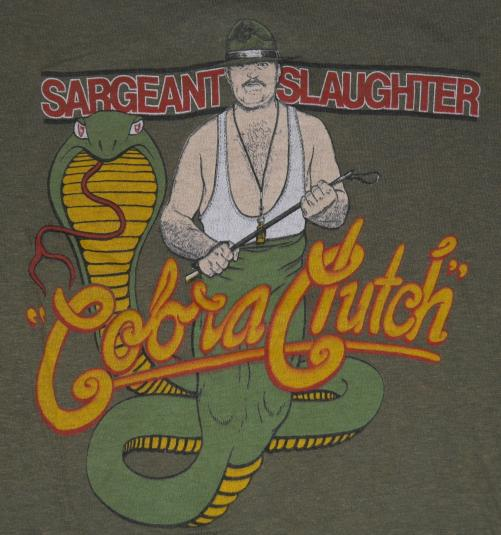 VTG WWF SGT SLAUGHTER COBRA CLUTCH 1980's T-Shirt