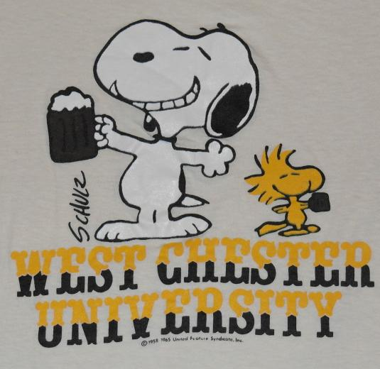 Vintage 1980s SNOOPY West Chester University T-Shirt 80s