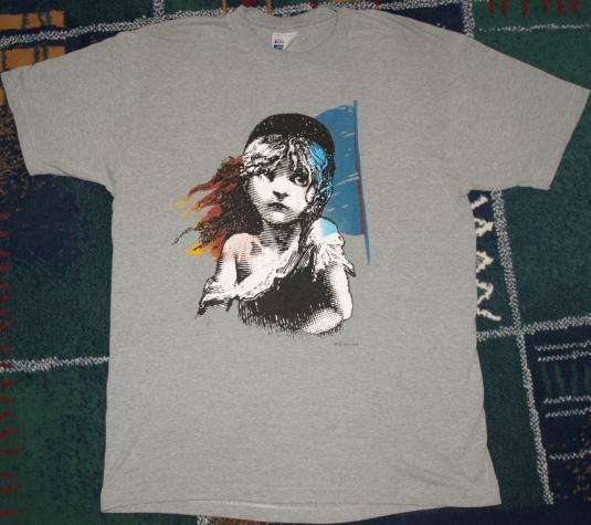 Vintage 1986 Les Miserables Broadway T-Shirt 1980s