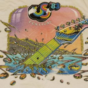 1983 US Festival T-Shirt Clash Van Halen Ozzy Judas Priest