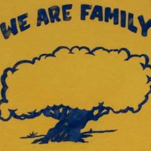 Vintage 1970's We Are Family Tree Yellow Hooker T-Shirt