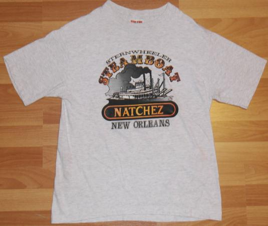 Vintage 1980s Natchez New Orleans Steamboat T-Shirt