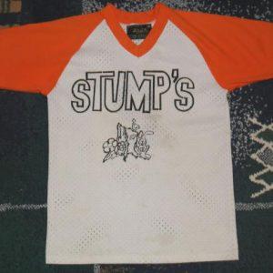 Vintage 1970s Stumps Rabbit Jersey T-Shirt Raglan Mesh