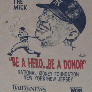Vintage NY Yankees Mickey Mantle The Mick Charity T-Shirt