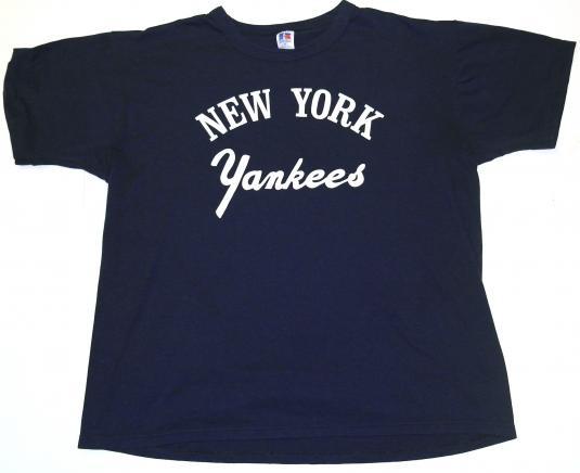 Vintage 1980's NEW YORK YANKEES MLB Baseball T-Shirt 80s